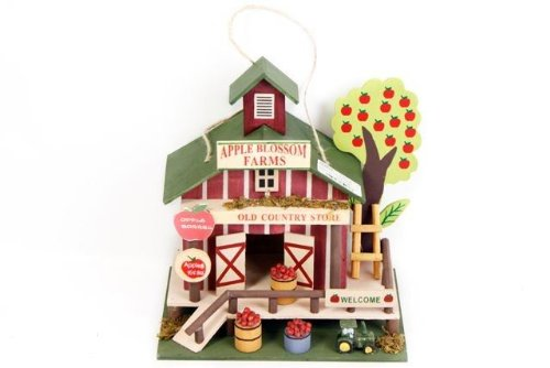 SIL Country Store Wooden Hanging Bird House Beautiful Home Garden Ornament
