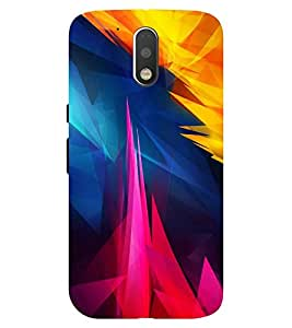 Chiraiyaa Designer Printed Premium Back Cover Case for Moto G4 Plus (painting colors) (Multicolor)