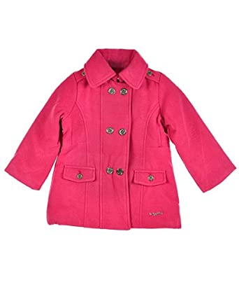 "Baby Phat ""Rose Pink"" Infant Girls Pea Coat (24M)"