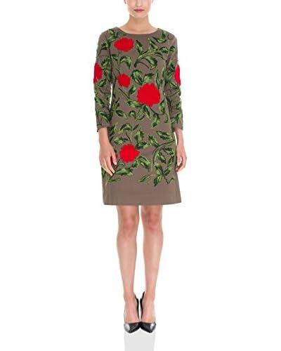 Almatrichi Abito Roses  [Grigio Scuro]