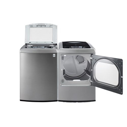Lg Graphite 4.5 Cu Ft Front Control Top Load Washer And 7.3 Cu Ft Steam Electric Dryer Wt1201Cv_Dley1201V
