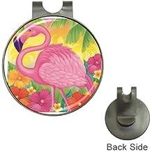 Pink Flamingo Design Magnetic Golf Ball Marker Hat Clip