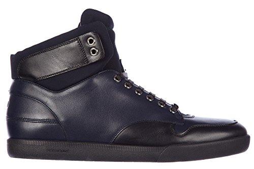 Dior scarpe sneakers alte uomo in pelle nuove b01 blu EU 41.5 3SH057VQB569