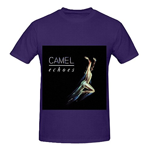 Camel Echoes Rock Men Crew Neck Diy T Shirt Purple (Wu Tang Clan Thermal compare prices)