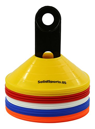 Solid Sports Training Disk Cones (Set of 50), Mixed (Motorcycle Practice Cones compare prices)