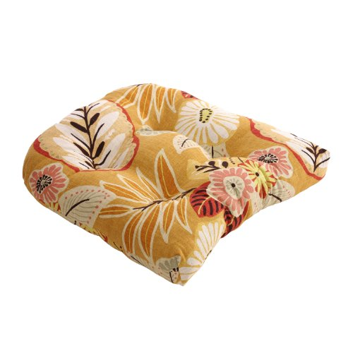 Pillow Perfect Gold Tropical Chair Cushion picture