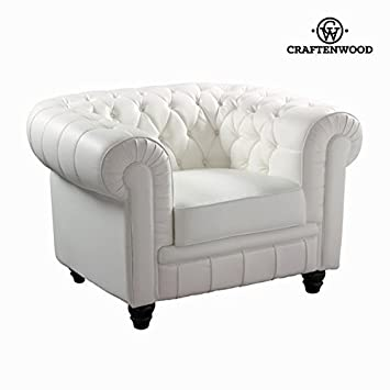Craften Wood - White one-seat sofa by Craften Wood - bb_S0101728