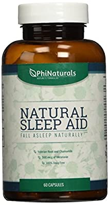 Natural Sleep Aid | With Melatonin, GABA, Valerian Root, Passion flower, Skullcap & Chamomile | Sleeping Pills Alternative by Phi Naturals