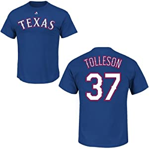 Shawn Tolleson Texas Rangers Royal Player T-Shirt by Majestic by Majestic