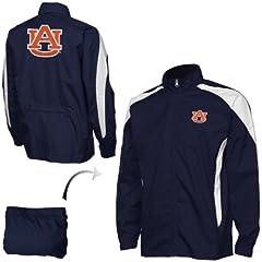 Buy Auburn Tigers Genuine Stuff Pack Away Full Zip Wind Jacket by JAGZ