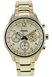 Fossil Women's CH2791 Stainless Steel Analog Gold Dial Watch