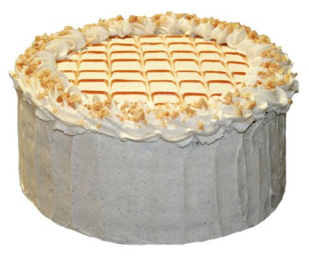 Sugar Free, Flour Free Caramel Cake With White Chocolate Mousse