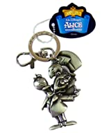 Alice in Wonderland Keychain - Mad Hatter With Teapot Pewter Keychain