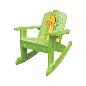 Summer Sale - the best gift for children - lovely green giraffe Rocking Chair 20611, for Kids 2~6 years from HomeFurnitureInc