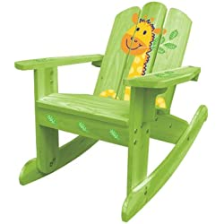 Summer Sale - Lovely Green Giraffe Rocking Chair/ 2-in-1 Chair 20611, for Kids 2~6 years