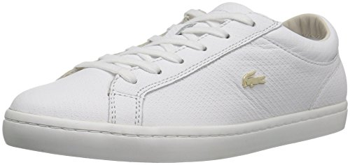 Lacoste Women's Straightset 316 1 Caw Fashion Sneaker, White, 7 M US