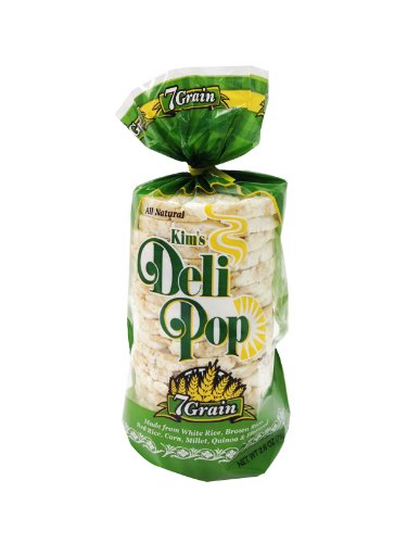 Kim's Deli Pop 7-Grain 12-Pack: Made from Gluten Free Ingredients Using All Natural White Rice, Brown Rice, Quinoa, Corn Grits, Oats, Flaxseed, and Red Rice; Freshly Popped Rice Cakes, Healthy Grain Snack, 0 Weight Watchers Point (Pop Rice compare prices)