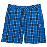 Puma Men's Golf Check Bermuda Shorts - Strong Blue (28