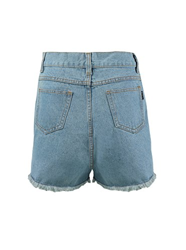 Zity Lady Women Retro Girl High Waisted Oversize Crimping Boyfriend Jeans Shorts Pant 1