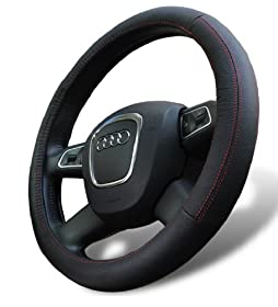 Leather Steering Wheel Cover for Mazda CX-5 CX-7 CX-9 Mazda5 Mazda6