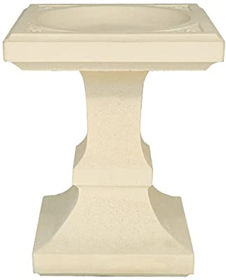 Small Birdbath Square in Cast Stone OGD174