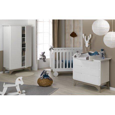 Alfred & Compagnie Schlafzimmer Baby komplett Leinen/Weiß jetzt kaufen