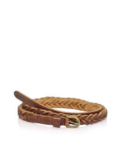Will Leather Goods Women's Rylie Skinny Braid Belt  [Brown]