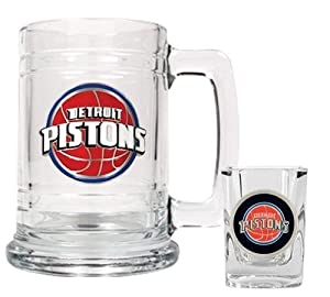 NBA Detroit Pistons Boilermaker Set - Primary Logo by Great American Products