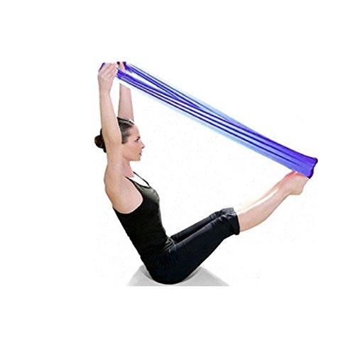 Yoga Elastic Band AutumnFall® Pilates Yoga Workout Aerobics Stretch Band Tensile Band (Purple)