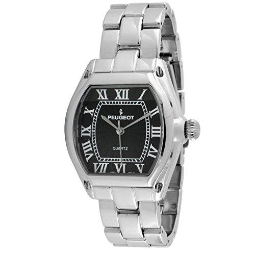 Peugeot Women's 7069SBK Silver-tone Roman Numeral Bracelet Watch