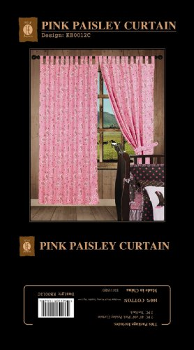 Pink Paisley Bedding 4071 front