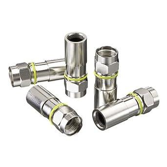 Ideal Industries RG-6 Compression F-Connector, Plenum, Jar of 50