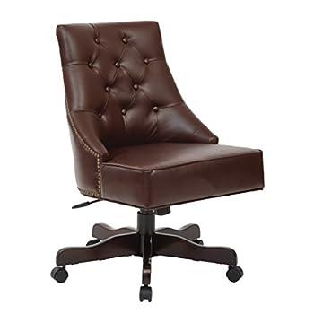 OFFICE STAR BP-REBEX-BD24 Rebecca Office Chair, Cocoa