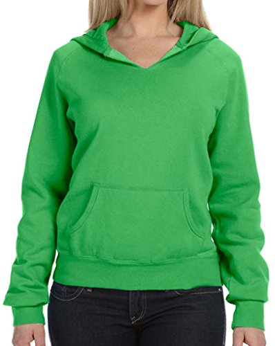 Ladies Front-Slit Hoodie, Xl Neon Green