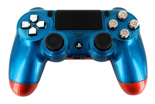 """""""Neptune Blue & Orange Candy-Paint"""" Ps4 Custom Unmodded Controller [Video Game]"""