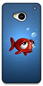 The Racoon Lean fish with frog eyes hard plastic printed back case / cover for HTC One (M7)