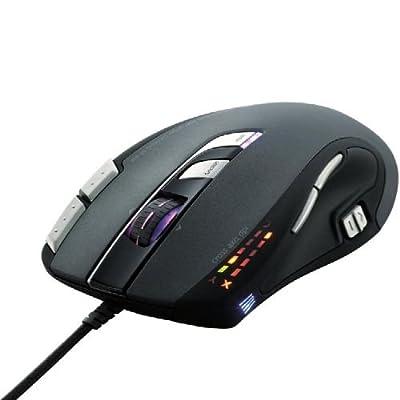 ELECOM ゲーミングマウス 有線 レーザー 7ボタン オンボードメモリ搭載 ブラック M-H1ULBK