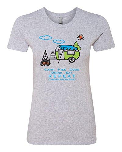 Slim-Fit Junior's Cut Retro RV Trailer T-Shirt