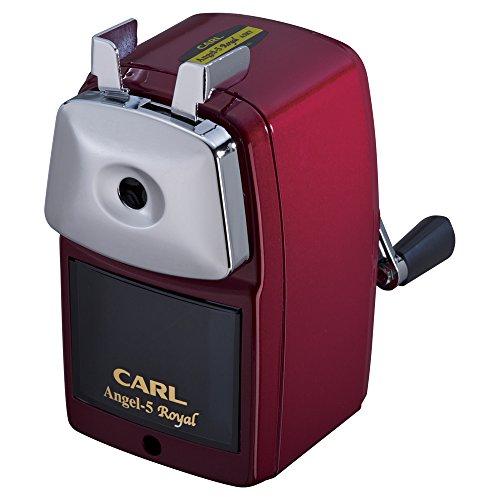 カール事務器 手動鉛筆削器 エンゼル5 ロイヤル A5RY-R レッド
