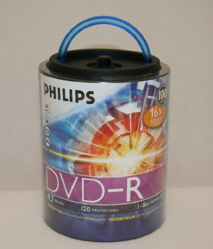 Philips DM4S6H00F/17 100 Pack 16X DVD-R Spindle