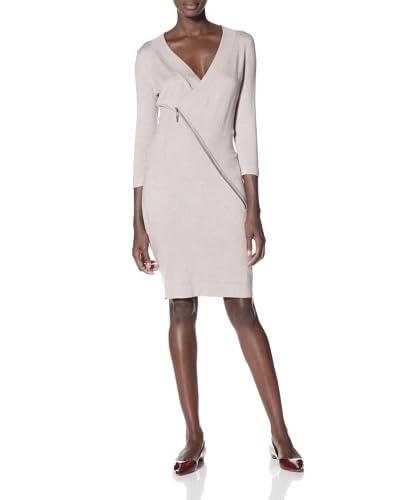 Cullen Women's Asymetrical Zip Sweater Dress  - Sable