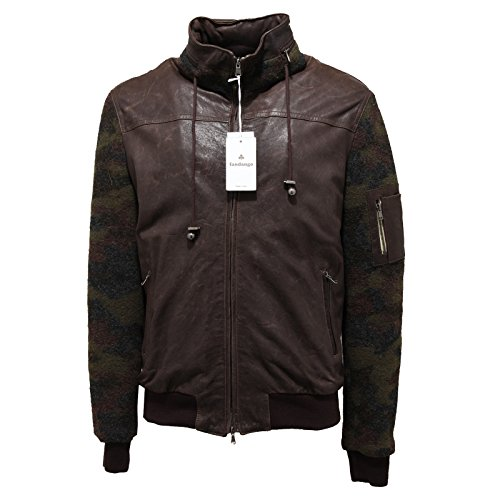3257M giubbotto uomo marrone FANDANGO pelle lana giacche leather jackets men [52]