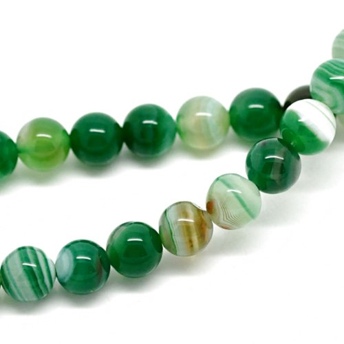 8mm-genuine-natural-green-agate-gemstone-beads-jewellery-making-beading-crafts