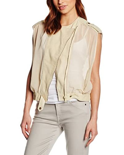 7 For All Mankind Weste Airy Biker creme S