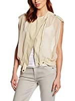 7 For All Mankind Chaleco Airy Biker (Crema)