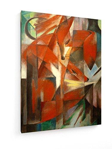 franz-marc-los-zorros-45x60-cm-weewado-impresiones-sobre-lienzo-muro-de-arte
