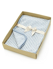 Pure Cashmere Striped Blanket in Gift Box