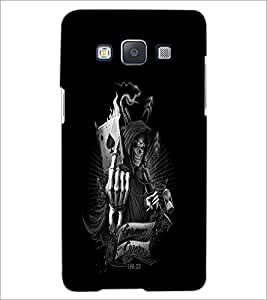 Printdhaba Warrior Skull D-2308 Back Case Cover For Samsung Galaxy E5