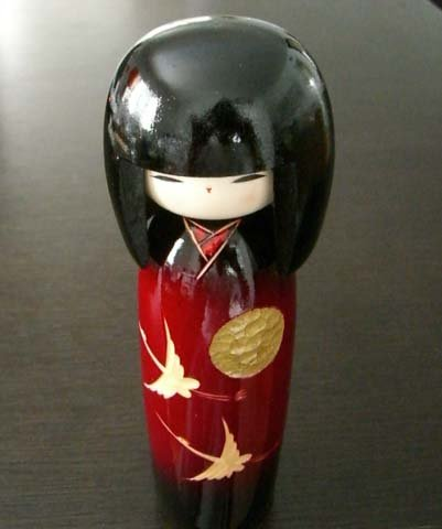 Japanese Kokeshi Doll-Cranes