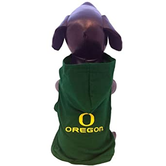 NCAA Oregon Ducks Cotton Lycra Hooded Dog Shirt, X-Small